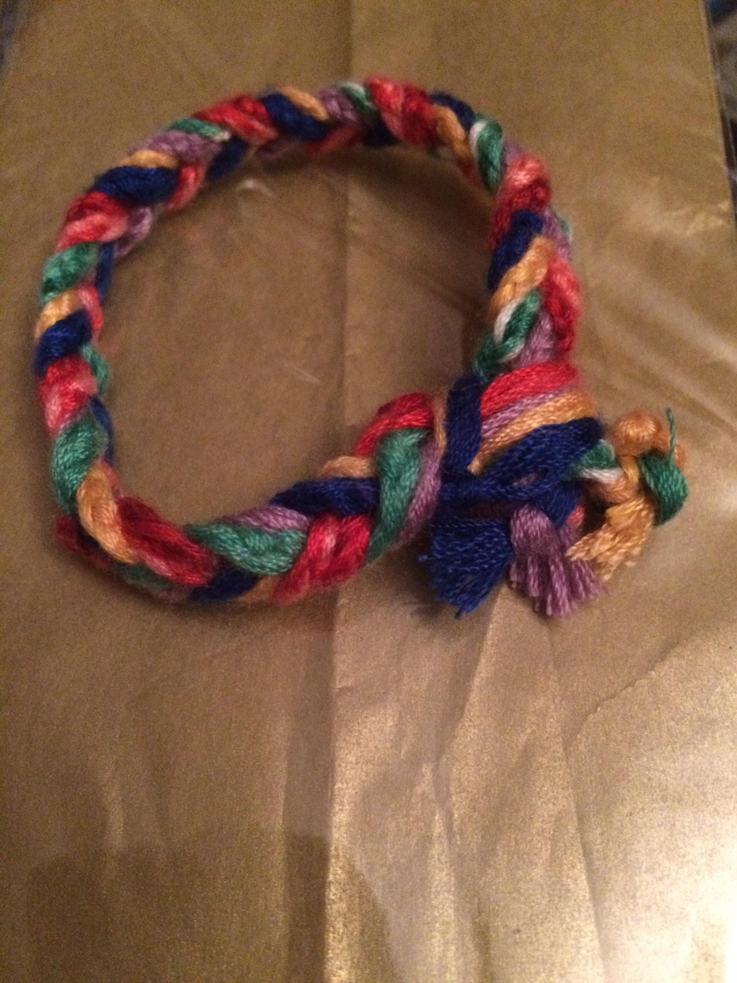 Plaited silks bracelet